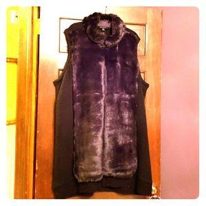 Faux Fur front sweater vest